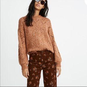 Madewell Pointelle Bubble Sleeve Pullover …